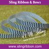 "9mm Black Fashion Chevron Weave Ribbons 3/8"""