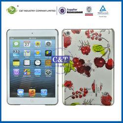 C&T Clear Hard back cherry pattern for ipad mini case