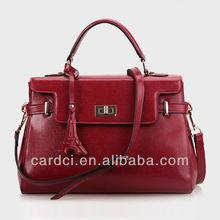 Pure cow leather trendy fashion designer handbags 2013