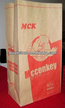 Fried chicken microwave heating brown kraft paper bag