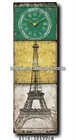 Home decor french MDF old style wall clock