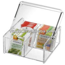 tea bag organizer case with handle