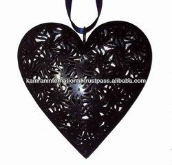 Heart shaped metal wall decor, metal heart shape dcoration hanging, decorative heart wall hanging,