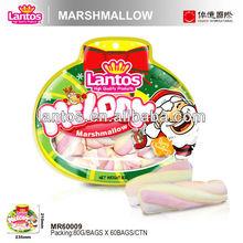 LANTOS Brand 80G TWISTED HALAL MARSHMALLOW