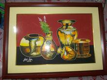 antique gold jar 50cmX75cm with frame