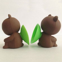 LINE Chat Expression Cute Bear Cat Sucker Stand mobile phone holder for iPhone 5 5s 5c , samsungS4, Smart Phone!