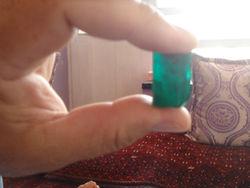 Rough uncut natural emeralds