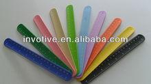 fashion design flexible silicone ruler slap bracelet