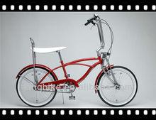 "20"" lowrider bike suspension fork bike coaster brake beach cruiser bike"