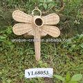 Rattan handmade libélula forma ; gaiolas de pássaros