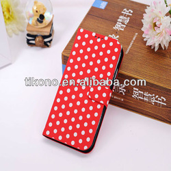 Hot sale wave point flip case cover for samsung galaxy s4