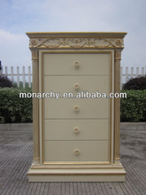 B123-39B antique white solid wooden hand carved wardrobe