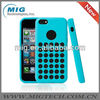 Slim Dotted silicone cell phone cover for iphone 5C, for iphone 5c case