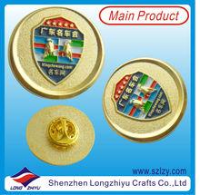 2013 Newest Gold Enamel Car Badges,Classic Car Badges,Round Car Emblems Pin Embossed
