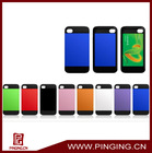 Colorful plastic pc tpu combo case for iphone 4 4s