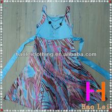 children apparel one piece dress for girls satin evening dress