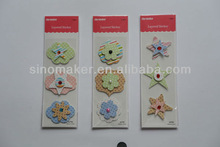 Hot selling layered paper flower/3D stickers for scrapbooking