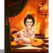 Handpainted nude indian hindu god painting on canvas, Hindu Gods(10)