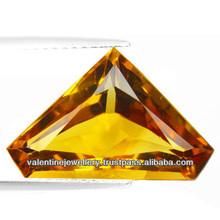 Shining Citrine Princess Cut Loose Stone, free size princess cut citrine gemstone