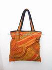 The RED Stripe Tote Bag Vintage Patchwork Fabric HMONG Bag - Pon Pon