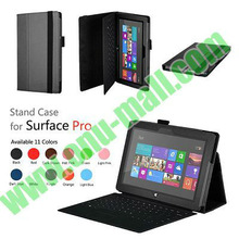 High Quality Leather Cover for Microsoft Surface Pro with Stand