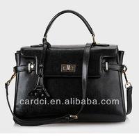 Hottest sale pure cow leather trendy fashion designer handbags