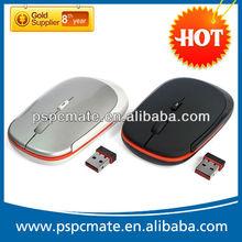 Slim Black Bluetooth Wireless Mouse,2.4Ghz