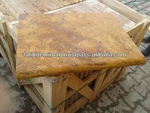 "Golden Travertine - Tumbled 18x24"" - poolcoping/bullnose"