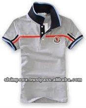 Mens Polo Short Sleeve Button Neck Premium 100% Cotton Grey color T Shirts