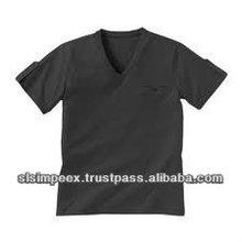 100% Cotton Mens Short Sleeve V Neck Premium Grey black color T Shirts