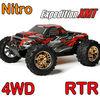 nitro rc monster trucks 1/10 scale full time 4wd off road 20cxp engine 2.4G transmitter r/c car 1/10 scale 4x4 rc truck
