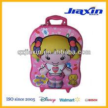 3D EVA model travelling luggage for little girls