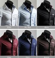 MOQ 5PCS Hot style latest fashion designs shirt for man slim fit casual man shirt