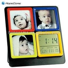 (L2804) photo frame weather forecast lcd alarm clock multifunction lcd alarm clock