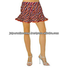 Knit colorful short Skirt with various pattern