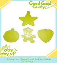 19 Gram Star Shape Plastic Balloon Weight