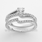 14k WHITE GOLD 1.0 CT DIAMOND RINGS