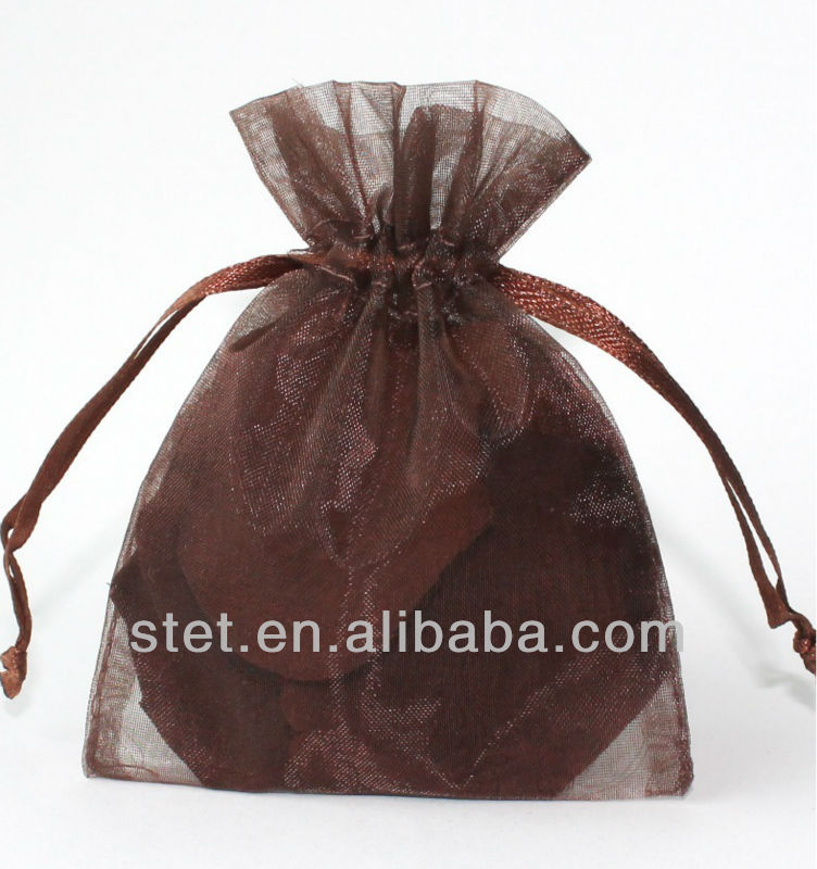 High quality sheer organza mini tote candy drawstring bag for wedding decorate christmas