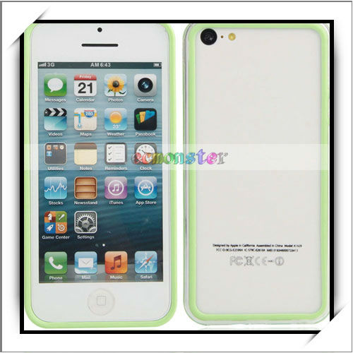 For iPhon 5c Mobile Phone Case Transparent Green