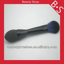 Professional two sides cosmetic brush,two sides foundation/powder makeup/cosmetic brush,custom logo makeup brush