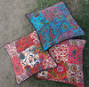 VELVET PATCHWORK CUSHION COVER ETHNIC INDIAN PILLOW CASE THROW