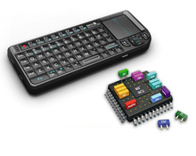 Miniature rt-mwk01 Wireless 2.4 Ghz Ultra slim Keypad Keyboard Tv Remote Game pad Backlit