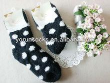 black color the love design for girl and women winter socks