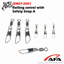 Rolling swivel with Safety Snap A Fishing Snap Swivel JSM07-2001
