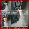 M408 Popular Design Removable Sleeves Sheath Corset Organza Skirt New Fashion Wedding Dress 2014