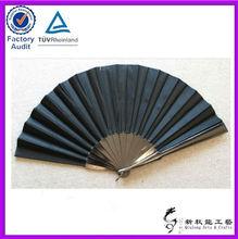 2013 new arrival black plastic hand fans sticks
