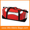 600D PVC red color cheap polo travel sport bags for gym