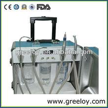 Fashionable Design Hot Sale Portable Dental Unit with Rod Box 2pcs Handpiece Tubing