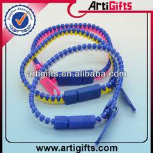 Promotion fashion cheap zipper bangle