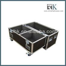 RK ATA flight case for 2 QSC K10 speakers, audio system rack case